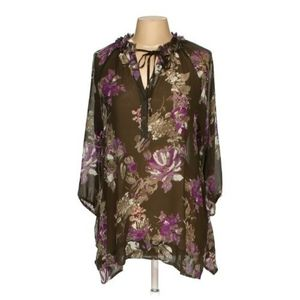 Lauren Conrad Sheer Tunic M